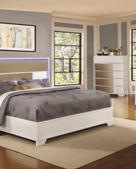Havering LED Lighted Bedroom Set - Brothers' Furniture
